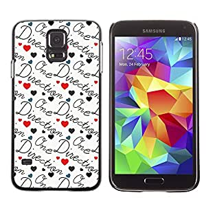 GagaDesign / Funda Carcasa protectora - Music Group Love Text - Samsung Galaxy S5 SM-G900