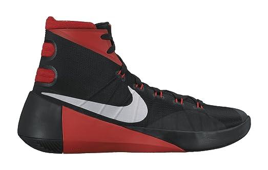 Nike Mens Hyperdunk 2015 Basketball Shoe Black/University Red/ Metallic  Silver 9
