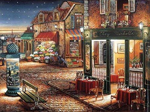 Downtown in the Starry Evening Cross Stitch Kits, 14ct, 400x298 Stitch, 82x64cm Cross Stitch -