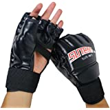 SUTEN MMA Muay Thai Training Punching Bag Half Mitts Sparring Boxing Gym Gloves
