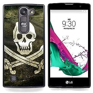 - Pirate Grunge Flag - - Cubierta del caso de impacto con el patr??n Art Designs FOR LG Volt 2 / LG G4 Mini (G4c) Queen Pattern