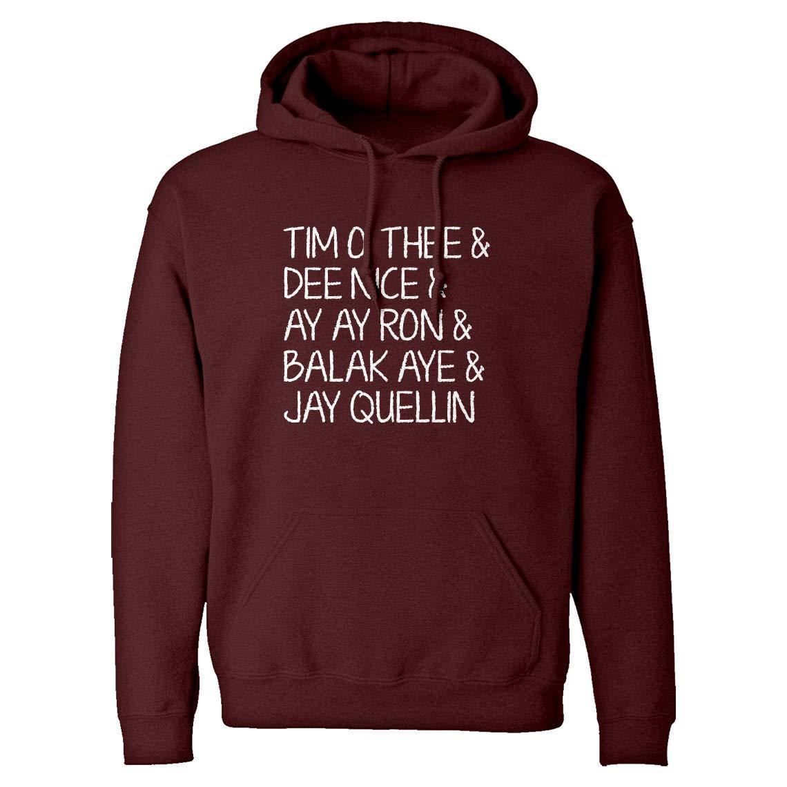Tim O Thee Dee Nice Ay Ay Ron Balak Aye Jay Quellin Unisex Adult 4307 Shirts