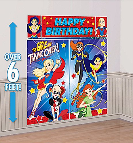 (amscan Dc Super Hero Girls Wonder Woman Supergirl Batgirl Party Scene Setter)