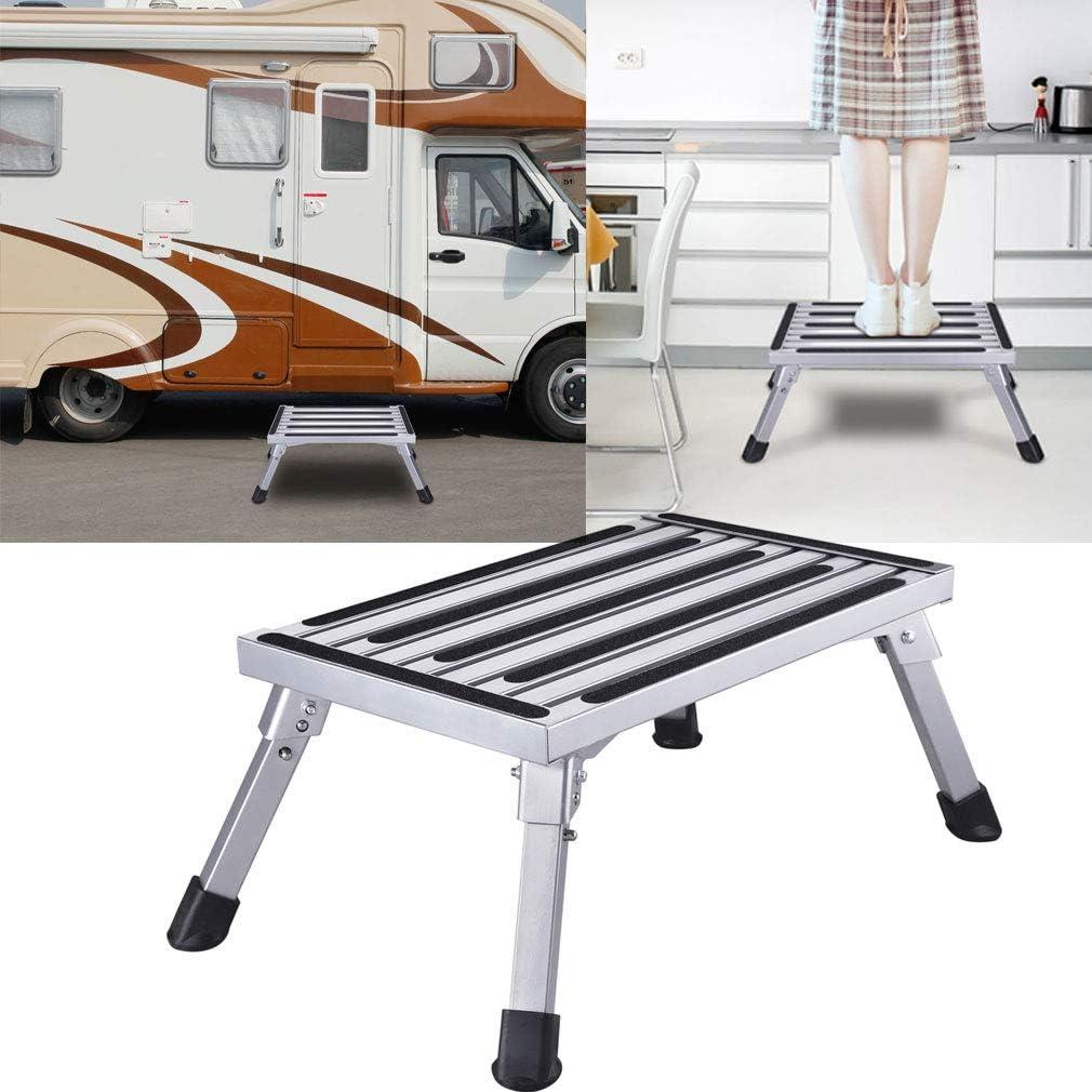 Johgee 47 x 30 x 23 cm Estable aluminio escalera de 1 nivel Plataforma de trabajo carga máxima 250 kg: Amazon.es: Electrónica
