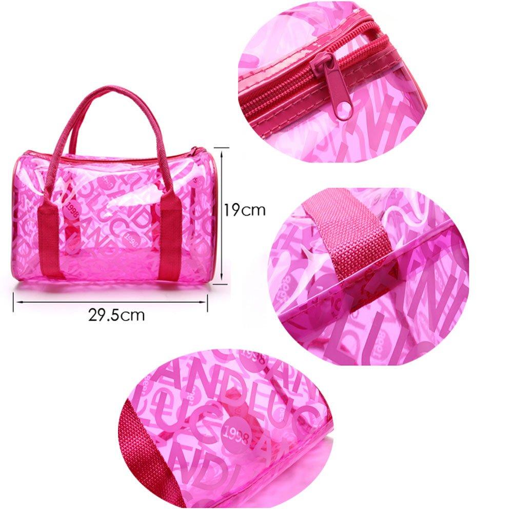 Donalworld Women Summer Clear Beach Candy Waterproof Handbag Pillow Bag Lpink by Donalworld (Image #5)