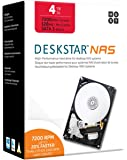 "HGST DeskStar NAS 3.5"" 4TB 7200 RPM 128MB Cache SATA 6.0Gb/s High-Performance Hard Drive for Desktop NAS Systems Retail Packaging 0S04005"