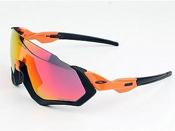 Gafas Polarizadas Deporte Bici Anti UV400 Gafas para Correr Running Antivaho con 3 Lentes Intercambiables Adaptadas