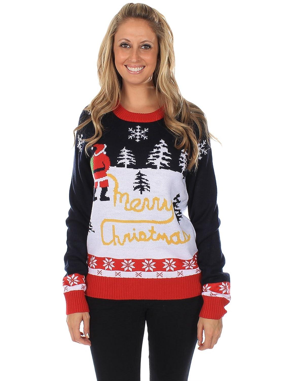 Lustiger Gelber Schnee Damen-Weihnachtspullover von Tipsy Elves