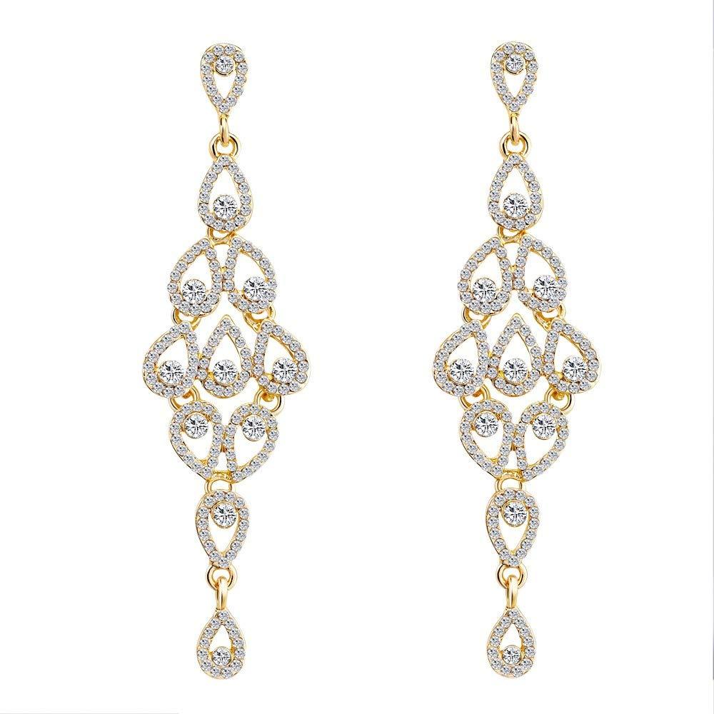SMALLE ◕‿◕ Clearance,Fashion Zircon Earrings Diamond-Encrusted Love Heart Earring for Girls