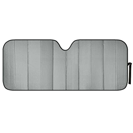 Amazon.com  Motor Trend AS-312-GR am Front Windshield Sun Shade-Black Jumbo  Accordion Folding Auto Sunshade for Car Truck SUV 66 x 27 Inch (Gray)  ... 46f6c8c66c5