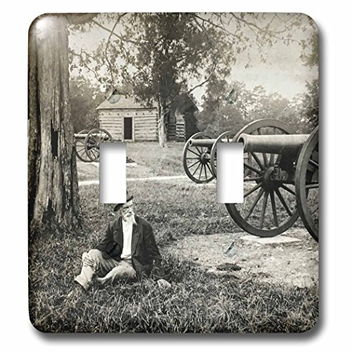 - 3dRose Scenes from the Past Vintage Stereoview Cards - Chickamauga Battlefield Vintage Stereoview Image Civil War - Light Switch Covers - double toggle switch (lsp_269993_2)