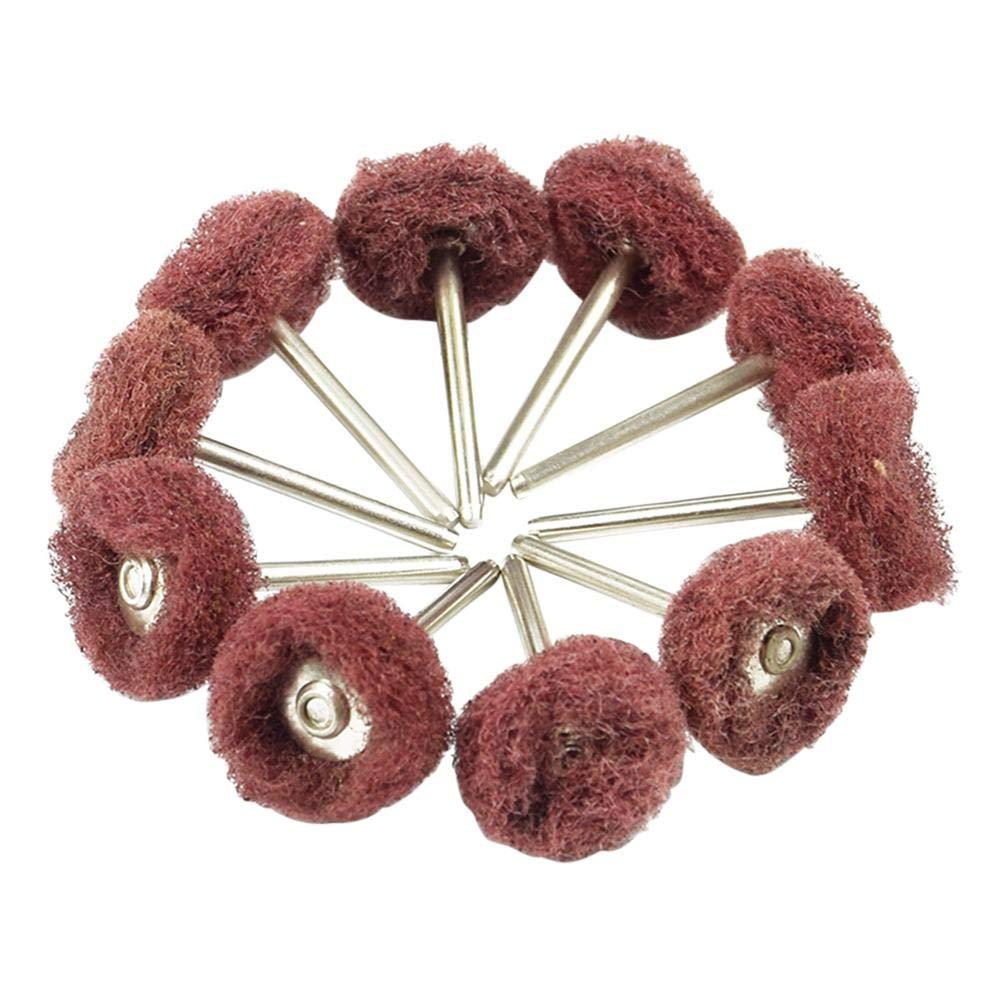 Everpert abrasifs Roues perceuse é lectrique Fibre Nylon Grind Tê te Gravure polonais abrasifs Roue kit, rouge
