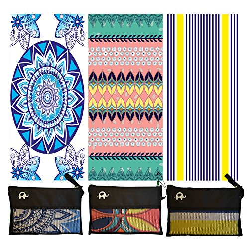 Elite Trend Microfiber Beach Towel for Travel:Oversized XL 78 x 35 Inch Quick Drying, Lightweight, Fast Dry Shower & Body Towels, Sand Free, Perfect