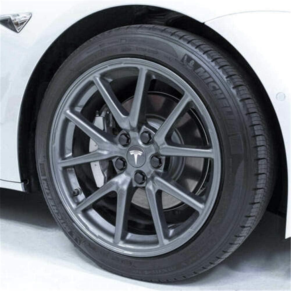S X Aero Wheel Cap Kit tomation Hub Cover for Tesla Model 3 Pleasure Delightful 4 Hub Center Cap + 20 Lug Nut Cover