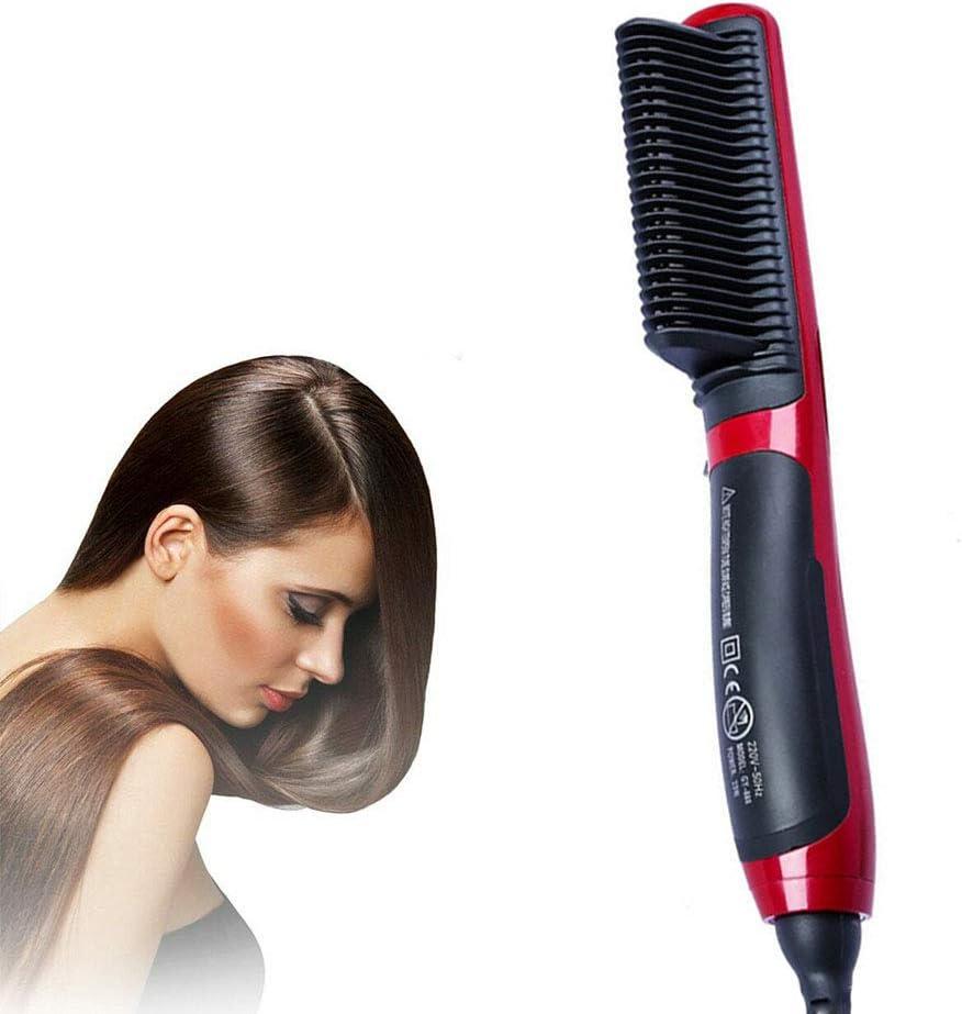 Hair Straight Styler, Cepillo para Alisar el Cabello, Alisador de Peine de Cerámica, Uso en Seco y Húmedo para Mujeres, Todo Tipo de Cabello