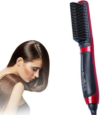Hair Straight Styler, Cepillo para Alisar el Cabello, Alisador de Peine de Cerámica, Uso en Seco y Húmedo para Mujeres, Todo Tipo de Cabello: Amazon.es: Belleza