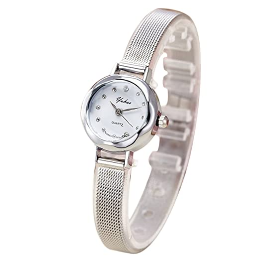 Ocamo Reloj de cuarzo para mujer, esfera pequeña, correa de ...