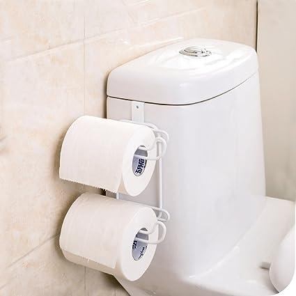 Amazon.com: Vivian Over the Tank Toilet Paper Roll Towel Holder Rack ...