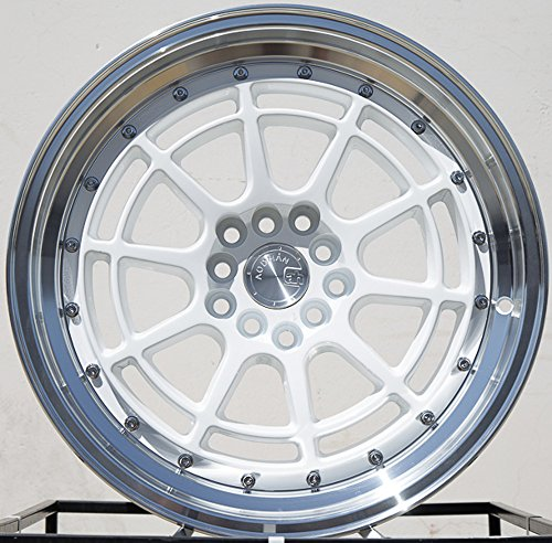 (Aodhan Wheels AH04: 16x8, 4x100, 73.1, 15, (WHITE MACHINED LIP FITS 100&114.3 HUB BORE))