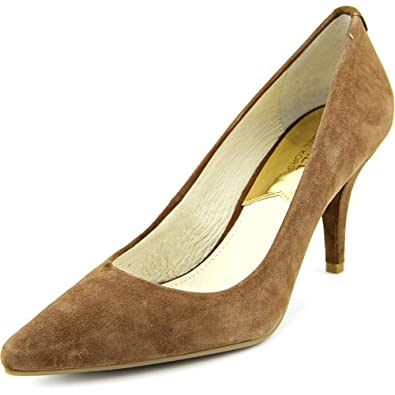 Michael Michael Kors MK Flex Kitten Pumps Dark Caramel Suede Shoes