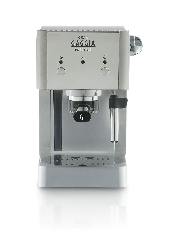 Gaggia Prestige - Cafetera individual, color plateado