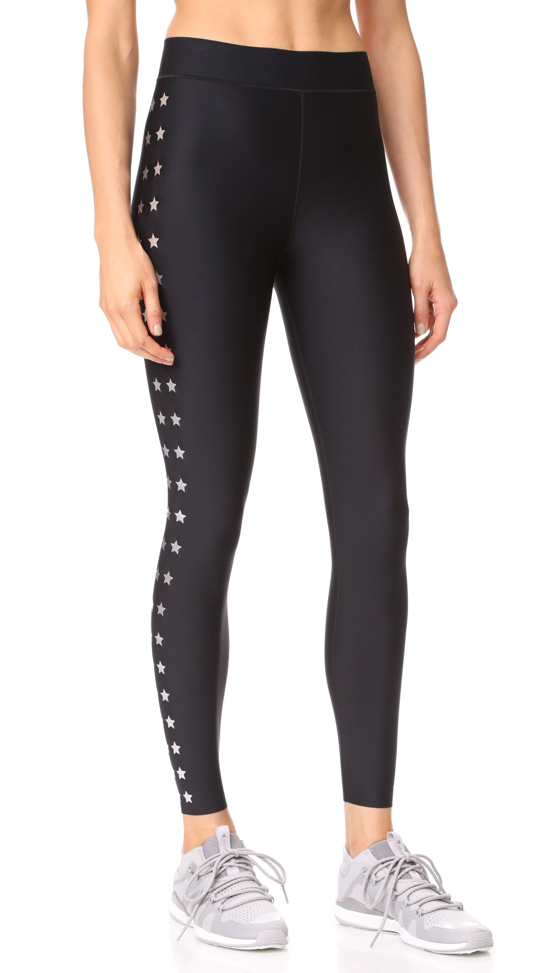 Ultracor Women's Ultra Matte Flash Knockout Leggings, Nero/Silver, X-Small by Ultracor (Image #1)