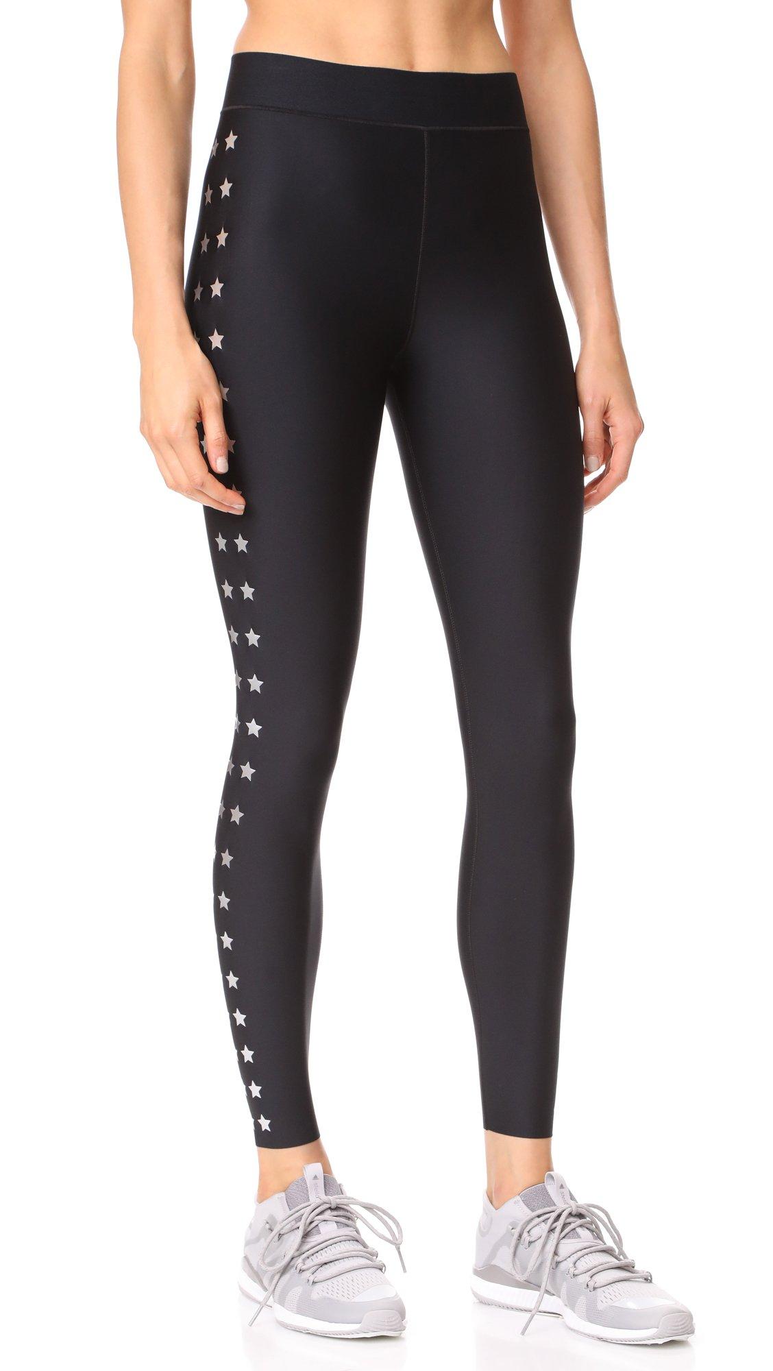 Ultracor Women's Ultra Matte Flash Knockout Leggings, Nero/Silver, Medium
