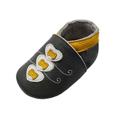 YIHAKIDS Soft Sole Baby Shoes Infant Toddler Leather Moccasins Baby Slippers