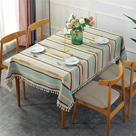 SONGHJ Algodón Raya de Lino Mantel Rectángulo Multifuncional Paño de Mesa Cocina Picnic Fiesta Manteles Impermeables C 140x180cm: Amazon.es: Hogar