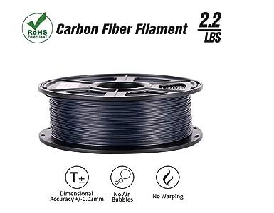Amazon.com: SunTop Filamento 3D de fibra de carbono PLA de ...