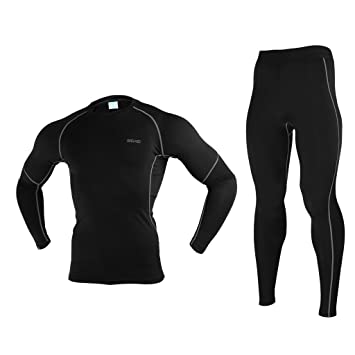 Amazon.com: ARSUXEO Invierno Warm Up forro polar Base de ...