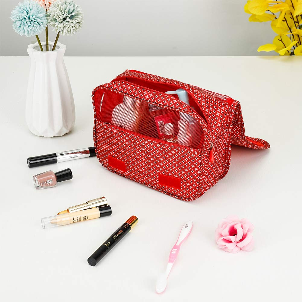 Waterproof and Portable Hanging Travel Wash Bag Baring Folding Travel Hanging Toiletry Bag Folding Travel Organizer Bag with Hook Folding Wash Bag for Women and Girls H04