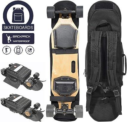 Aigend Skateboard Bag Mochila Impermeable Longboard Mochila de Almacenamiento Skateboard Longboard Estuche de Transporte Bolsa Accesorio Negro