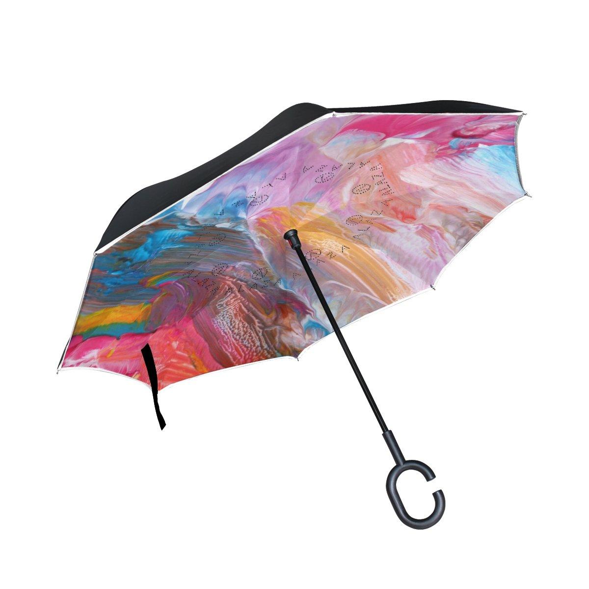 XiangHeFu - Paraguas invertido de Doble Capa (acrílico ...