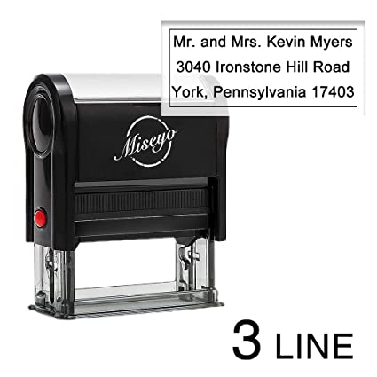 amazon com miseyo self inking custom stamp personalize up to 3