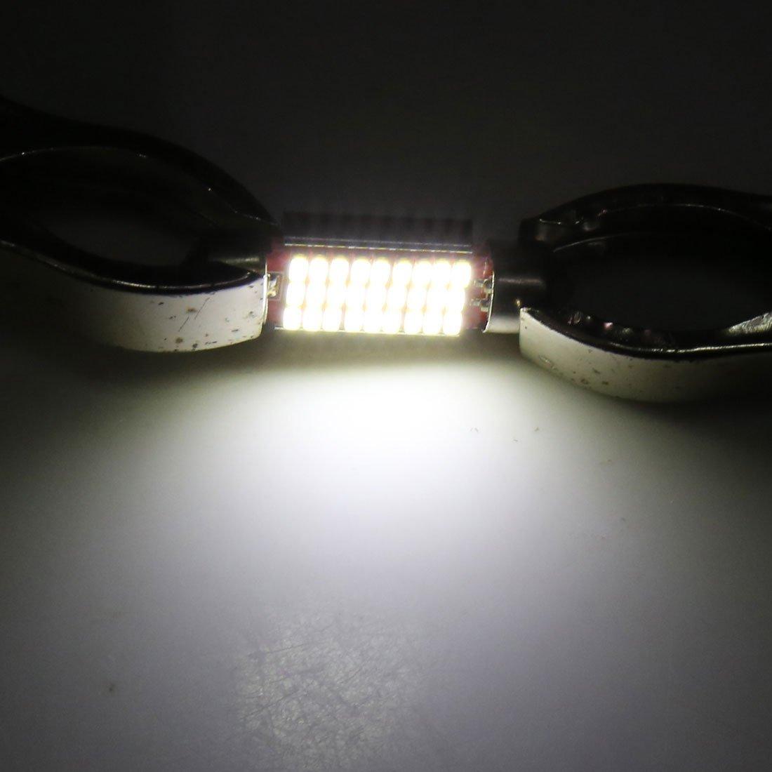 Amazon.com: eDealMax 4 piezas en 36mm tono Plata Concha Blanca 27 LED SMD del coche de bóveda del Adorno Mapa Luz Interior: Automotive