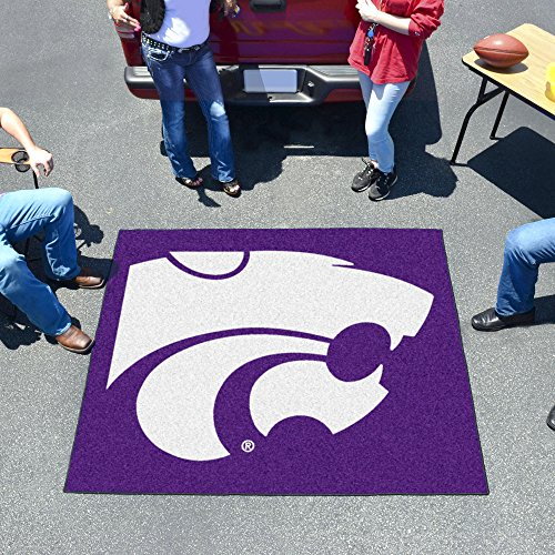 FANMATS NCAA Kansas State University Wildcats Nylon Face Tailgater - Ncaa Welcome Wildcats Mat