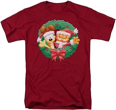 Garfield Camiseta de manga corta para adulto con corona ...