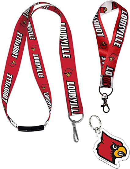 1 Key Strap 1 Key Ring University of Louisville Cardinals 1 Lanyard with Safety Breakaway Bundle 3 Items
