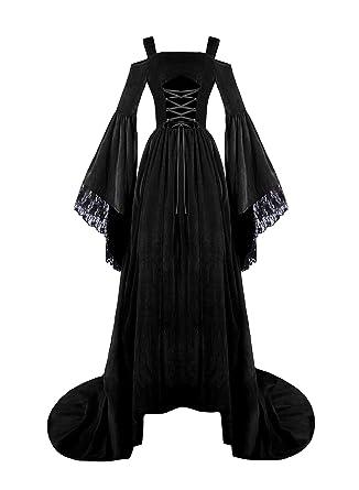 Amazon com: Womens Renaissance Costumes Lace-up Floor Length