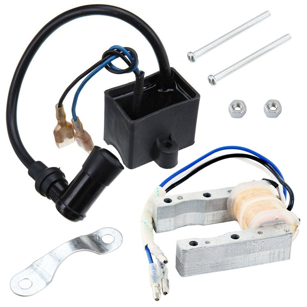 CDI Ignition Coil + Magneto Coil for 49cc 50cc 60cc 80cc 2-Stroke Engines Motor Motorized Bicycle Bike