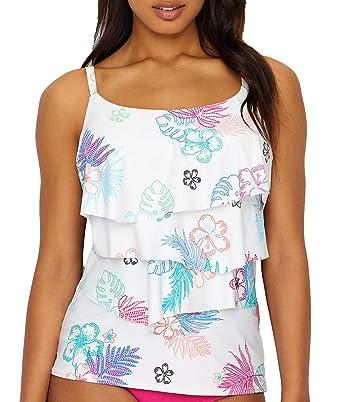 c41e8f783bc95 Coco Reef La Palma Aura Ruffle Underwire Tankini Swim Top (U16075) 32C White