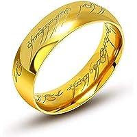 generique 6 mm Anillo volframio Señor de los Anillos Lord of The Rings