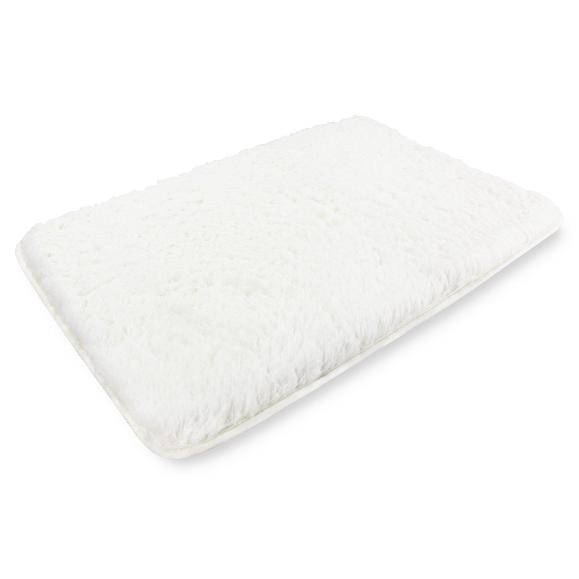 Soft Microfiber Non-Slip Antibacterial Rubber Luxury Bath Mat Rug 20''X32''White