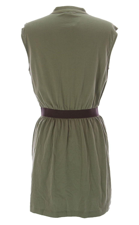 57f53ee0f7d Joan Vass Women s Pocket Tunic Dress Olive at Amazon Women s Clothing store