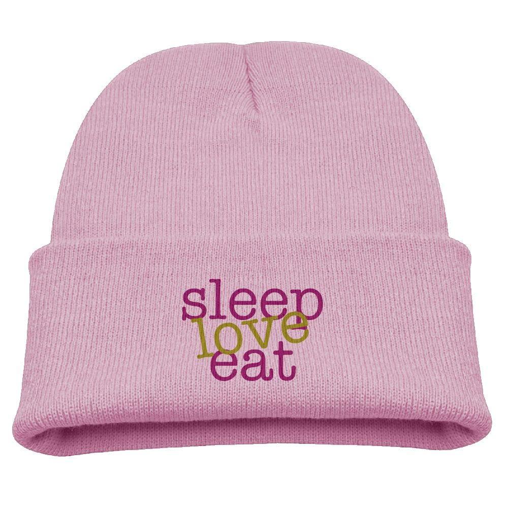 50de255e7ff Amazon.com  Yimo Sleep Love Eat Kids Fashion Beanies Black  Sports    Outdoors