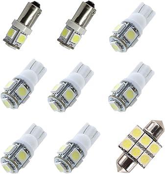 FOR 2014-2016 2017 2018 Infiniti Q60 LED Lights Interior Package Kit WHITE 9PCS