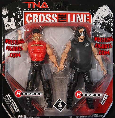 Tna Cross - HULK HOGAN & ABYSS - CROSS THE LINE 2-PACKS 4 TNA TOY WRESTLING ACTION FIGURES