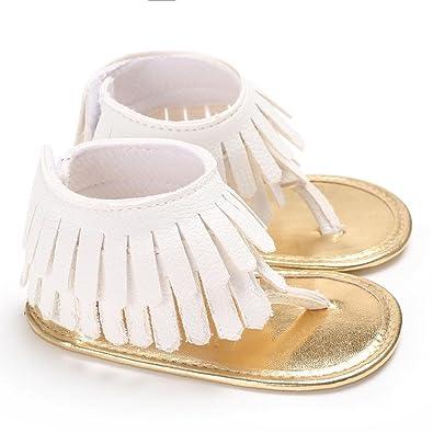 00cd97edbd8b1 Manadlian Chaussures Bébé Fille Sandales Chaussures Fleur Doux Semelle  Anti-Dérapant Bébé Sneakers (0