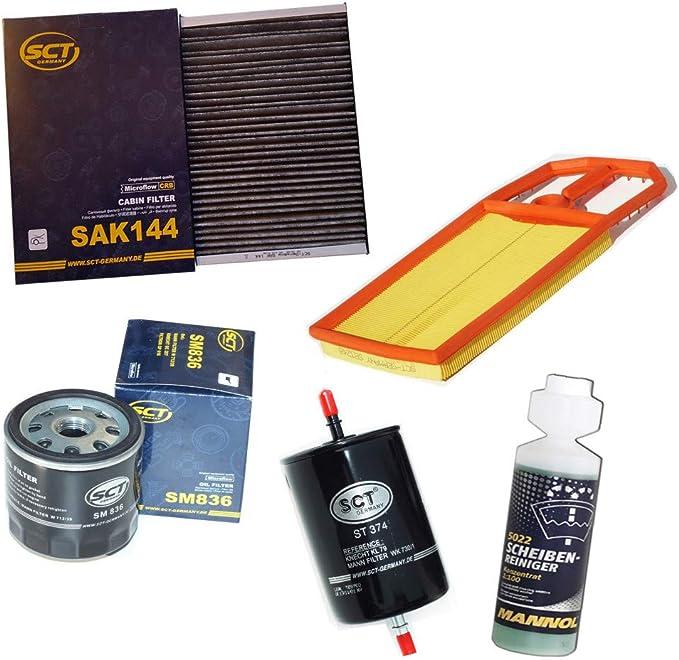 Inspektionspaket Sct Aktivkohlefilter Luftfilter Ölfilter Kraftstofffilter Geschenk Auto